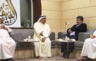 زيارة السفير بوريس بوريسوف ديوان عبداللطيف يوسف العتيقي